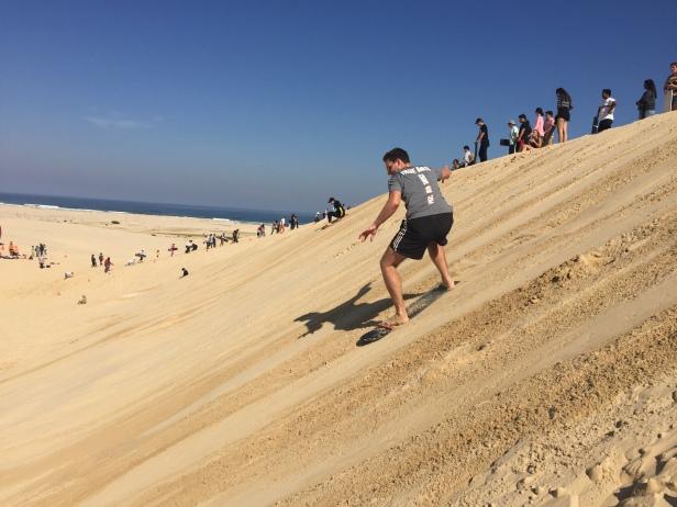 sand boarding stockton sand dunes 2017 boarding
